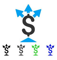 Split payment flat icon vector