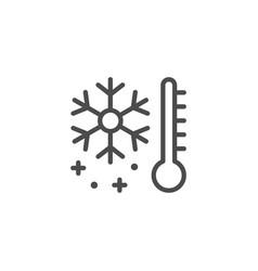 Storage temperature line outline icon vector