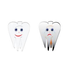 symbols tooth vector image