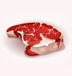 T-bone steak from the butcher vector