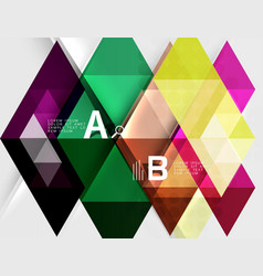 Transparent triangle tiles banner vector