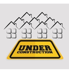 under construction sign house residential vector image