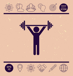 weightlifting dumbbell training icon vector image