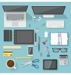 Workspace Icon Set vector image