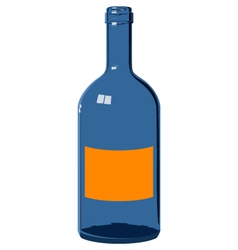 blue glass bottle vector image vector image