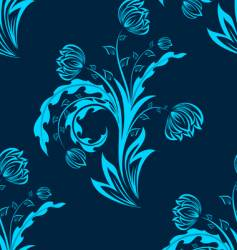 floral seamless background vector image vector image