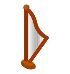 Harp icon isometric 3d style vector image