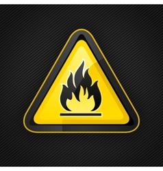 Hazard flammable warning vector