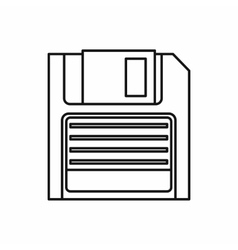 Magnetic diskette icon outline style vector image