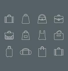 Bag outline vector image