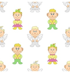 boy and girl angels vector image