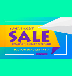 creative sale discount banner poster design vector image