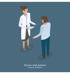 doctor talking with patient vector image vector image