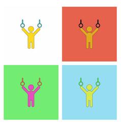 Gymnastics rings set vector