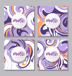 Ink texture watercolor hand drawn marbling vector