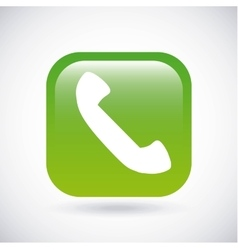 Phone icon Button design graphic vector image