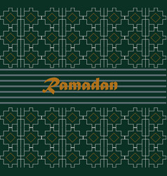 ramadan kareem with calligraphy on vector image