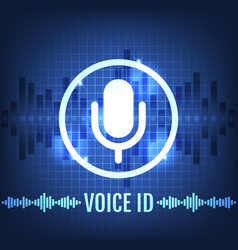 voice id tech icon and futuristic background vector image vector image