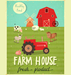 farm house poster vector image