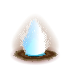 Geyser isolated on white vector image