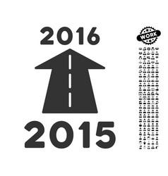 2016 future road icon with professional bonus vector image vector image