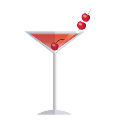 cocktail drink alcoholic fruit cherry image vector image