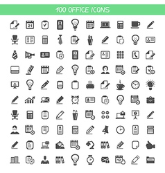 Collection office icons vector image vector image