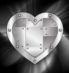 large metal heart vector image