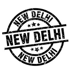 New delhi black round grunge stamp vector