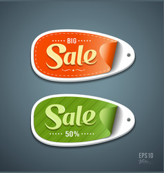 Orange and Green Labels paper for sale vector image