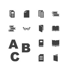 13 reading icons vector