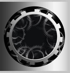 3d metallic gear background design vector
