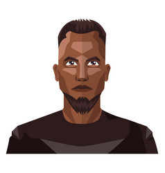 african guy with beard and short hair on white vector image