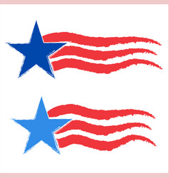 american star icon symbol set vector image