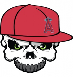 angels skull vector image