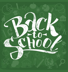Back to school typographical vector