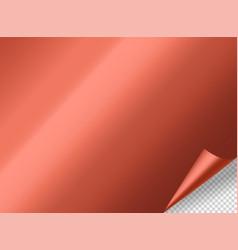 bending metal mockup object on transparent vector image