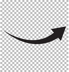 black arrow icon on transparent background flat vector image