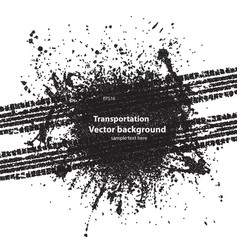 black dotted ink blots tire track vector image