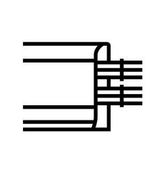 cable laying in skirting board line icon vector image