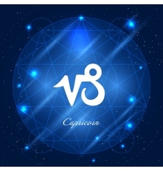 Capricorn sign of the zodiac vector image