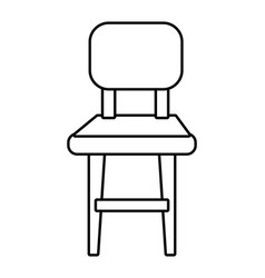 chair icon cartoon black and white vector image