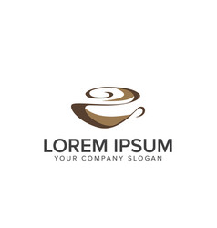 Coffee logo food and drink logo design concept vector