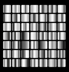 Collection metallic and silver gradient vector