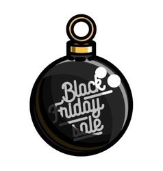 Color vintage black friday sale emblem vector image