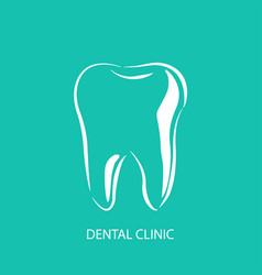 dental clinic logo icon in stylish design vector image