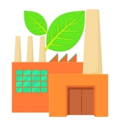 Eco factory icon cartoon style vector image