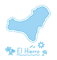 el hierro island map isolated cartography concept vector image