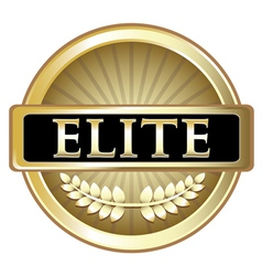 Elite Gold Label vector image
