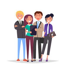 entrepreneurs executive worker successful team set vector image